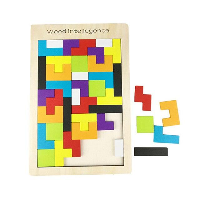 juguetes para nios de madera tangram tetris juego educativo montessori de madera de aprendizaje temprano juguete nio beb