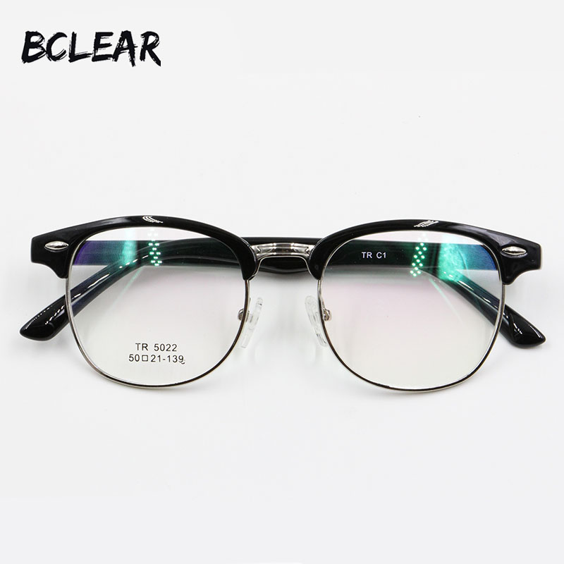 BCLEAR Classic style retro round optical frame fashion blowline glasses TR90 full frame eyeglasses quality popular spectacle