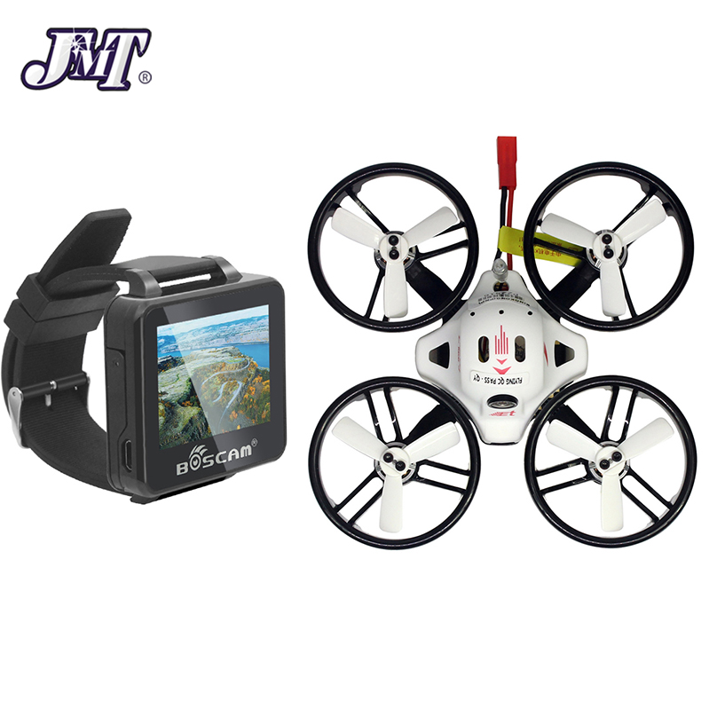 JMT ET125 Micro FPV Racing Drone 800TVL Camera 16CH 25mW 100mW PNP with FPV 2inch 960*240 HD Watch все цены