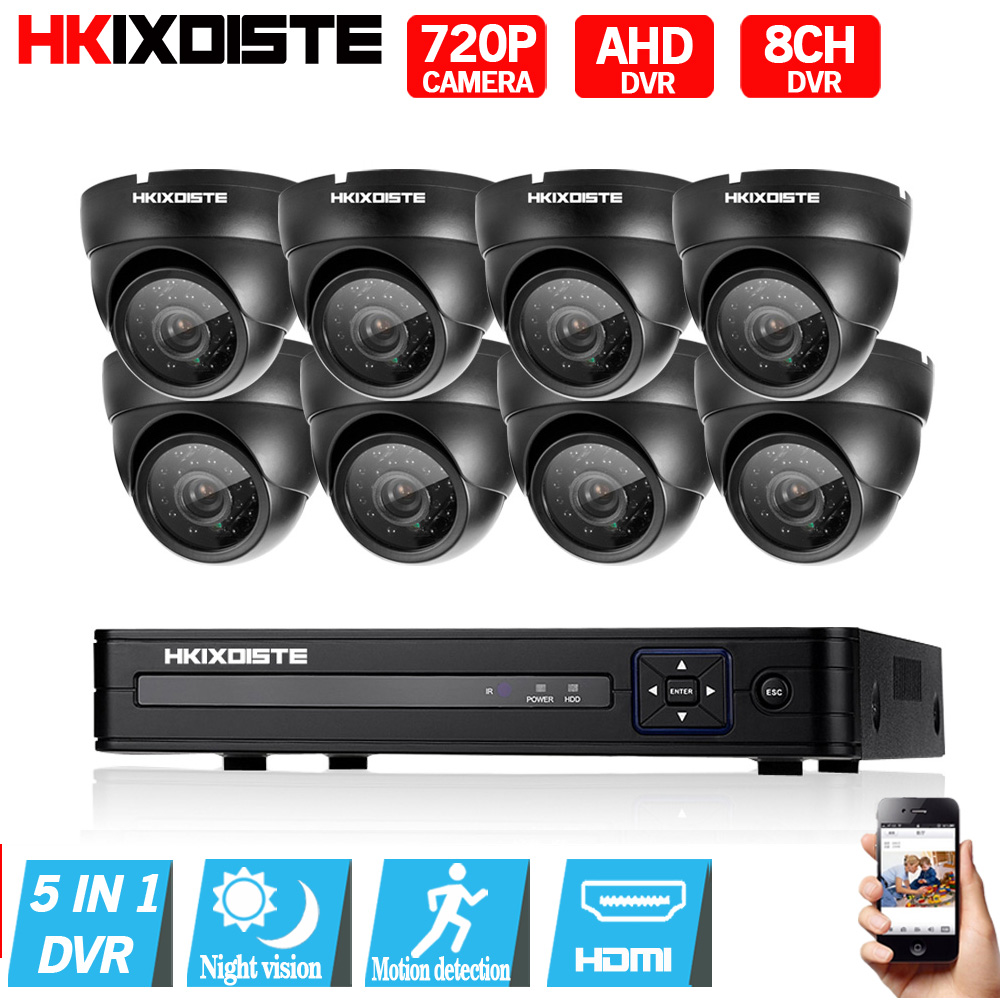 8CH 1080N HDMI DVR 2000TVL 720P HD indoor Security Camera System No Hard Drive 8Channel CCTV DVR Kit AHD Camera Set 1.0MP Camera