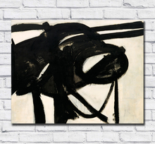 Large Size hand painted Oil Painting Franz Kline Buttress 1956 Wall Art Canvas Pictures for Living Room and Bedroom No Frames