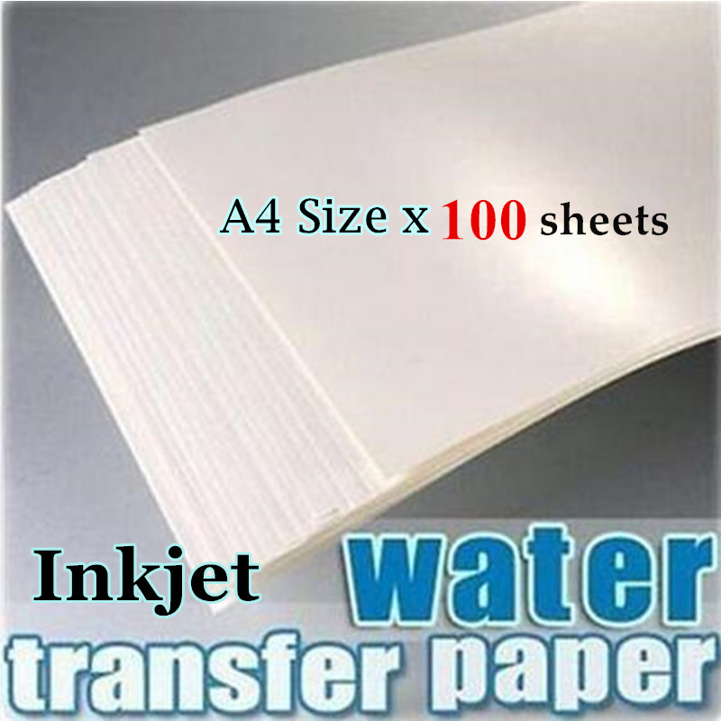 100pieces lot 100 Water Slide Decal Paper A4 Size Inkjet Water Transfer Paper China Clear