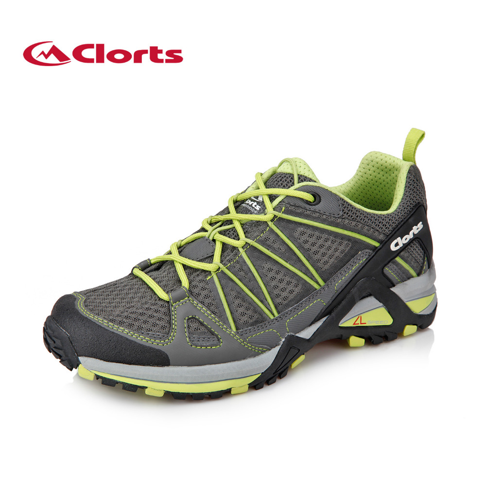 2018 Clorts Mens Trail Running Shoes Lightweight Outdoor Sport Shoes Breathable Mesh Shoes For Male Free Shipping 3F015B/C 2017 clorts mens outdoor walking shoes breathable lightweight sports shoes cow suede for men blue brown free shipping 3g020a d