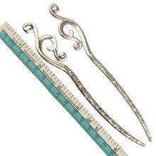 Book Marks DIY Tassel Dangles Women Hairpins School Supplies Large Flat Curve Wave Silver Metal Wedding Gift Jewelry 160mm 5pc