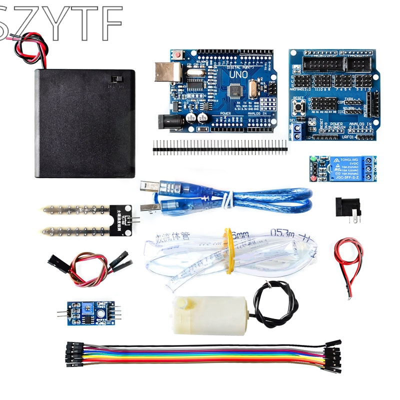 Automatic watering pump automatic irrigation module DIY kit Soil moisture detection automatic watering UNOAutomatic watering pump automatic irrigation module DIY kit Soil moisture detection automatic watering UNO