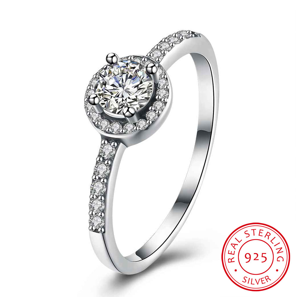 Sterling Silver Fashion Ring Solid CZ Ring
