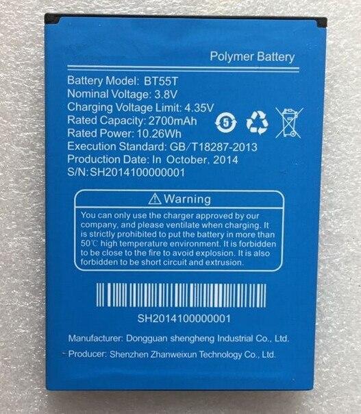BT55T 2700mAh Original <font><b>Battery</b></font> for <font><b>ZOPO</b></font> <font><b>ZP999</b></font> ZP3X Smart Mobile Phone In Stock Free Shipping + Tracking Code