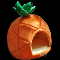 Pet Cat House Foldable Soft Winter Dog Bed Pineapple Shape Dog House Cute Kennel Nest Dog Warm Cat Bed
