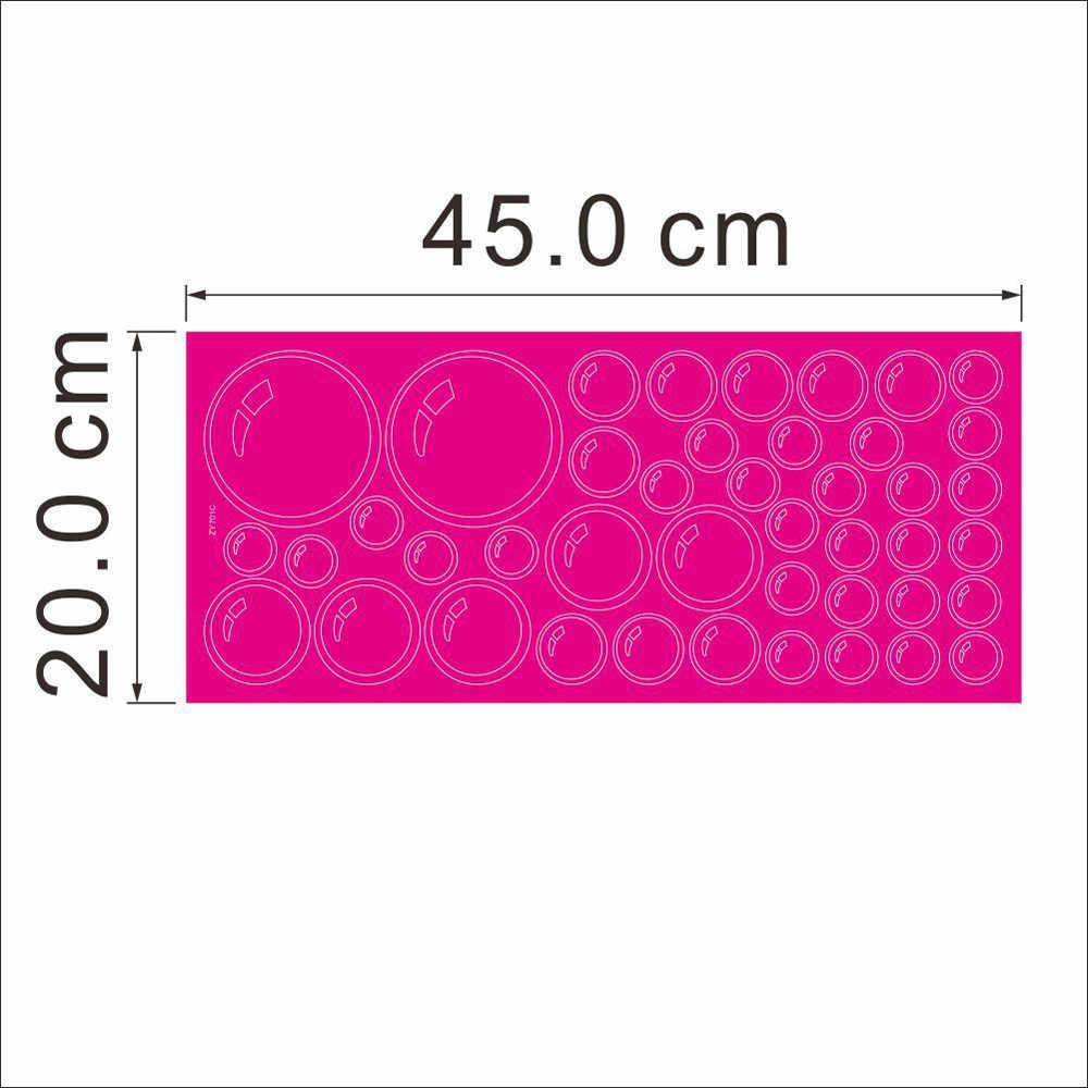 ملصقات جدارية قابلة للإزالة على شكل دائرة بفقاعات على الموضة ملصق لنافذة الحمام ملصقات جدارية ذاتية الصنع إكسسوارات تزيين منزلية 0.793