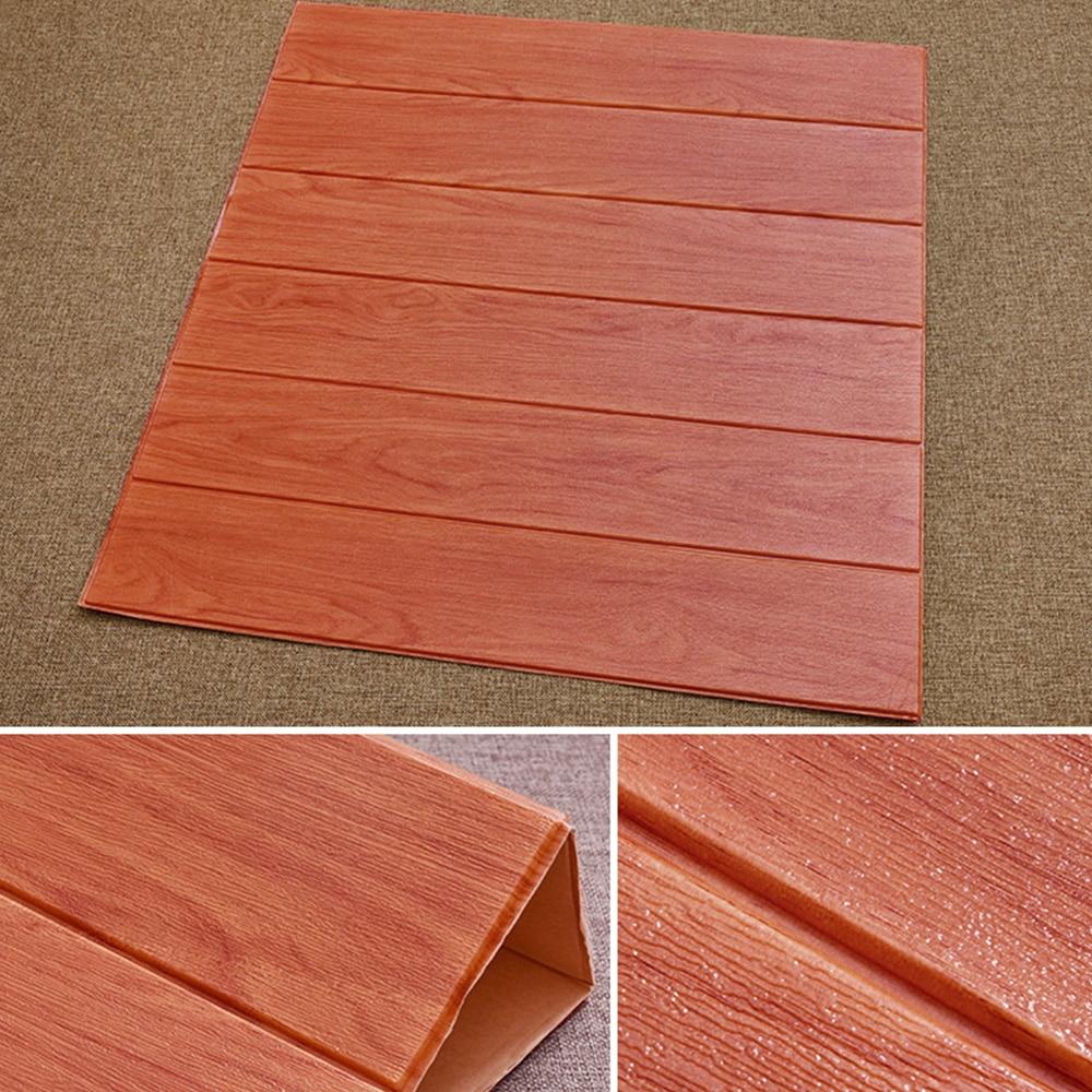 Glue On Wall Panels : D wood board design self adhesive wall sticker panel