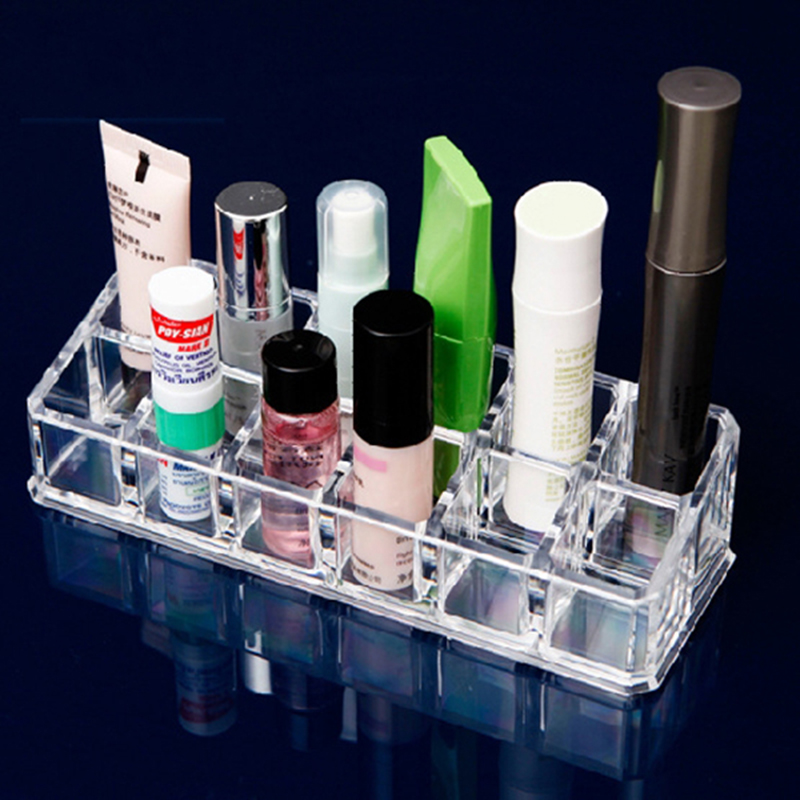 Transparent storage box cosmetic case jewelry cosmetics gifts storage box Desktop small items crystal makeup storage