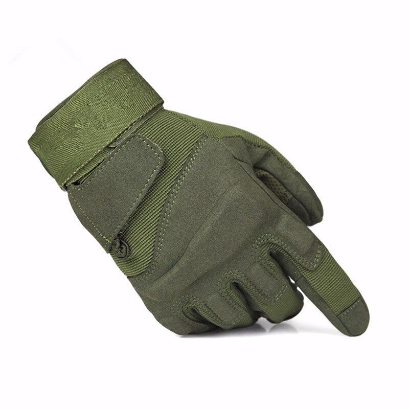 Тактические перчатки армейская военная техника наружные охотничьи перчатки мотоциклист страйкбол пейнтбол оборудование Боевые фитнес перчатки - Цвет: green