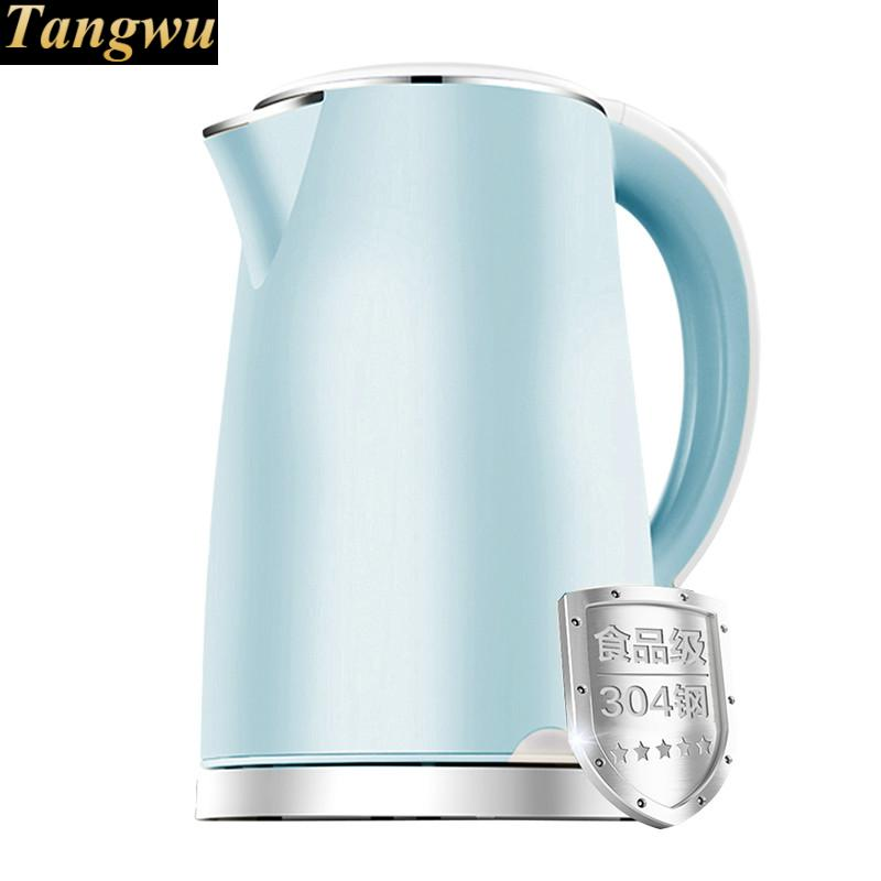 electric kettle is insulated and ironed the household 304 stainless steel electric kettle is warm and hot 304 stainless steels are used in the household