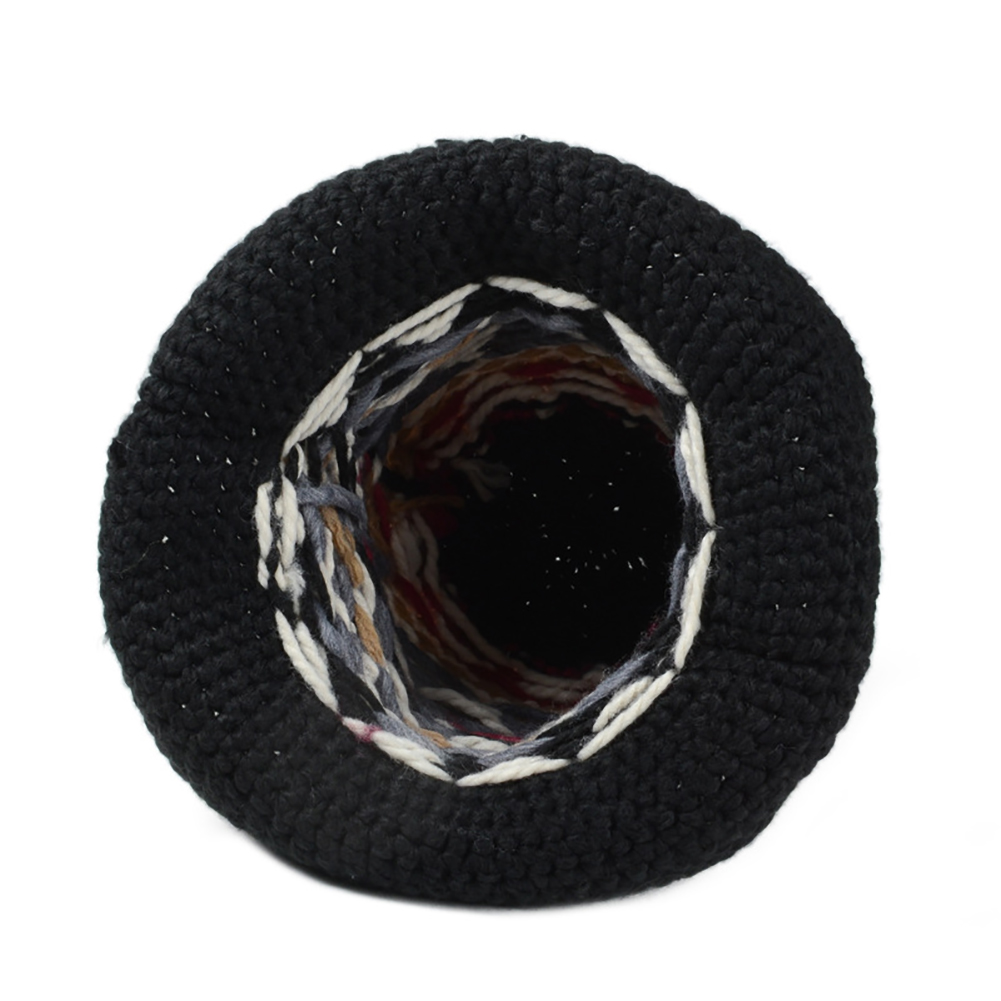 478c47d18f5 Women Winter Vintage Pattern Handmade Warm Knitted Hat Brim Foldable Bucket  Hat-in Women s Bucket Hats from Apparel Accessories on Aliexpress.com