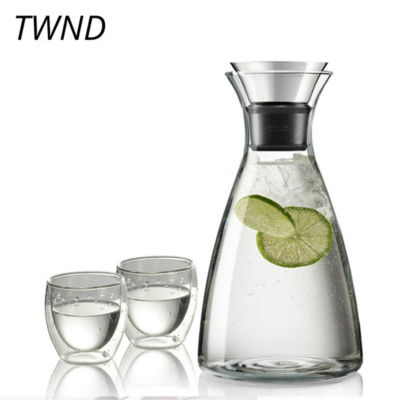 1400CC Heat resistant glass teapot with cups large capacity kettle mugs creative drinkware