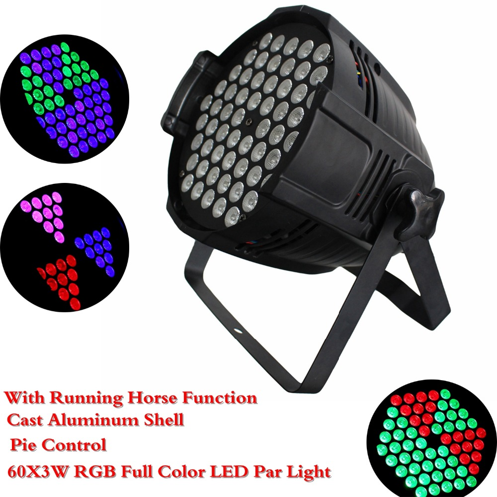 2018 New Arrival 8 Unit LED Par Light 60X3W RGB Full Color LED Par Cans Professional Stage Effect Lighting DJ Party Disco Show цена