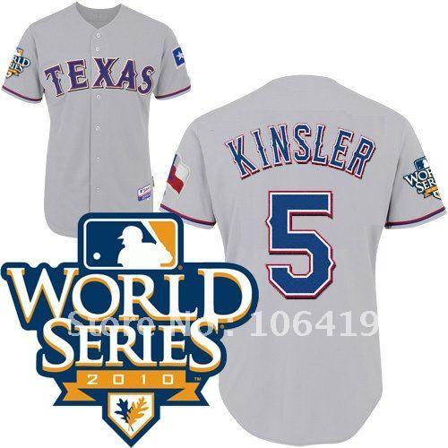 Texas Rangers Jerseys #5 Ian Kinsler Grey Baseball jersey free shipping