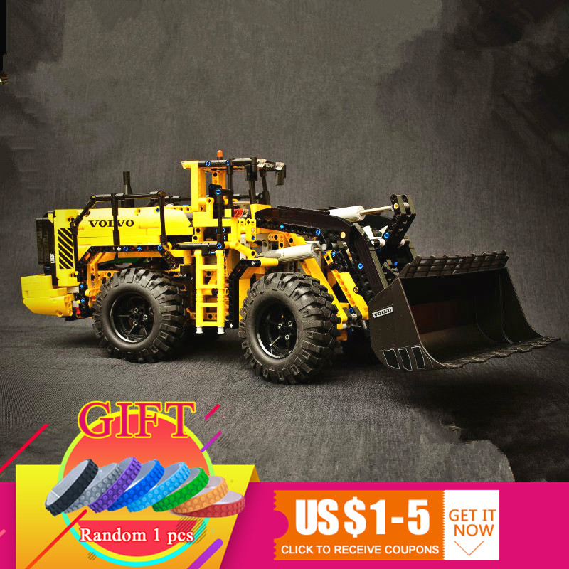 20006 1636pcs Technical series Volvo L350F wheel loader Model Building blocks Compatible with 42030 boy gift car toys lepin недорого