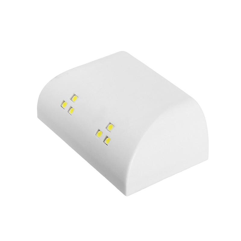 LED Wardrobe Cabinet Night Light Touch Sensor Lamp 6 LED Showcase Bookshelf Closet Batte ...