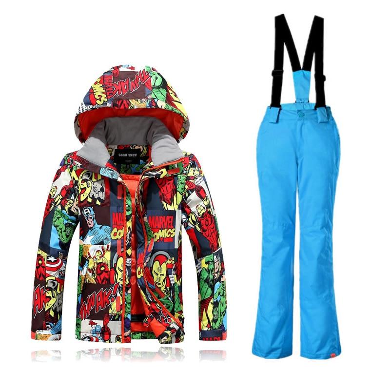 15c8ab8523b8 Winter Ski Jacket Boy Children Kids Ski Suit Warm Snowboard Snow ...