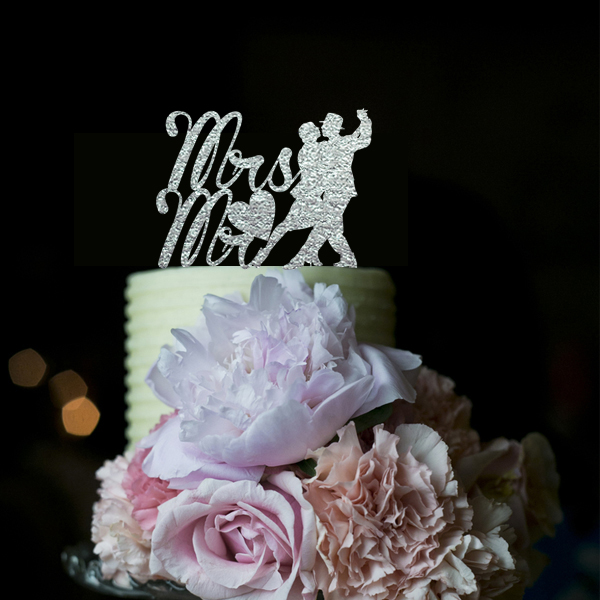 Bruiloft Decoratie Blije Mariage Gepersonaliseerde Cake Toppers - Feestversiering en feestartikelen - Foto 1