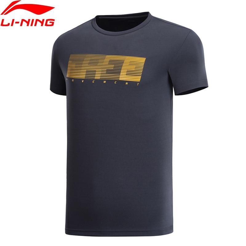 Li-Ning Men Training Series T-Shirt Regular Fit Short Sleeve Polyester LiNing Li Ning Breathable Sports Tee Tops ATSP043 MTS3031