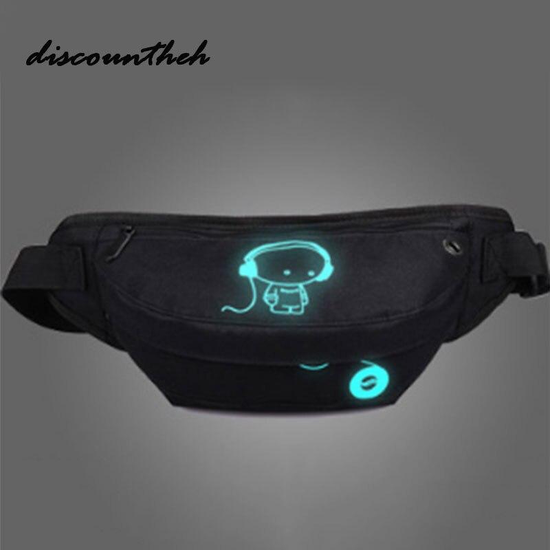 2017 Fashion Shoulder Bags Luminous Men`s Casual Men`s Chest Pack Women Teenagers Mens Messenger Bag Travel Bags