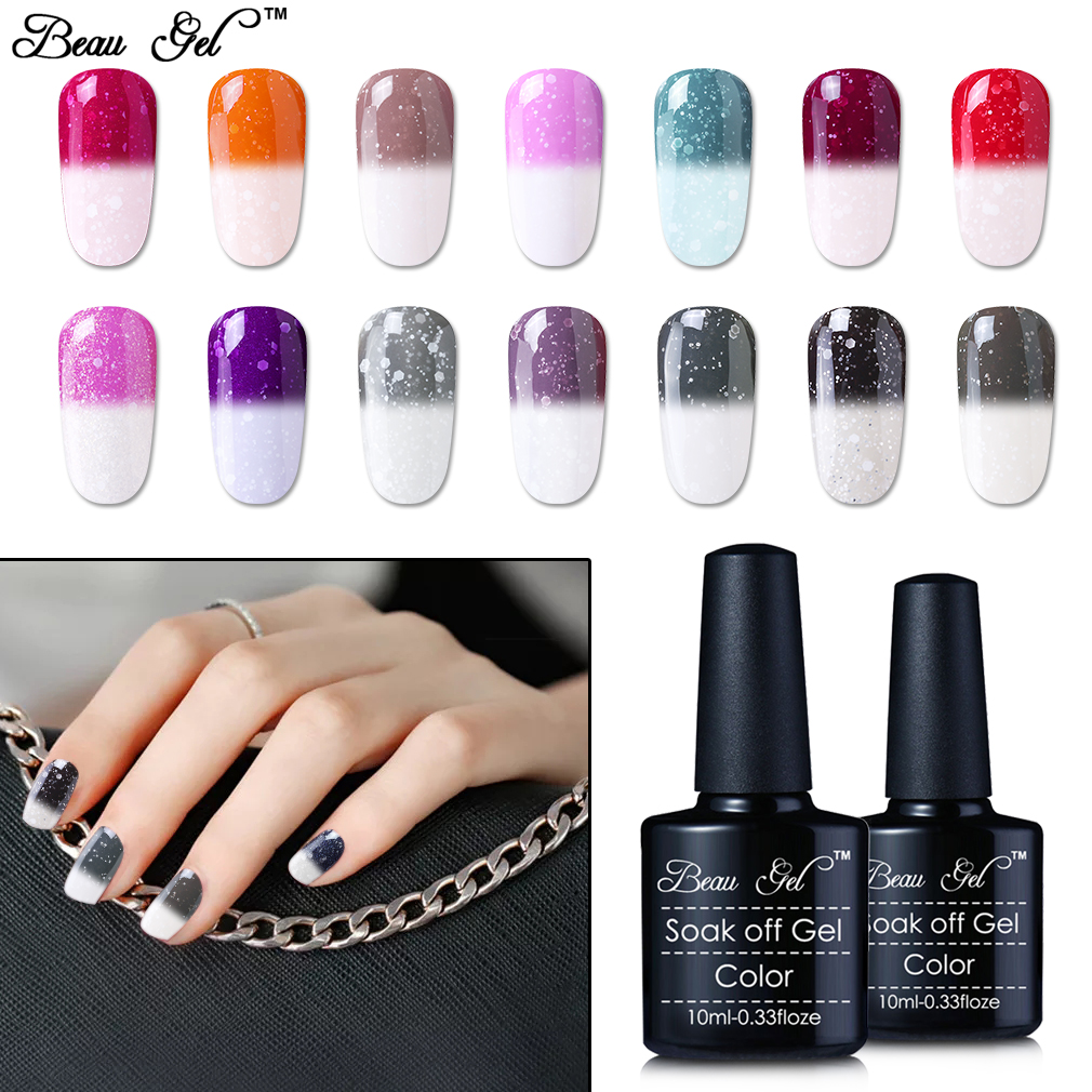 Prefect Beau Gel Temperatura Cambio de color térmico Esmalte de uñas UV 10ML UV / LED Soak Off Sellador de uñas semi permanente Laca Vernis