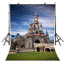 150x220cm Cartoon Castle Backdrop Cute Cartoon Castle Beautiful Photography Background for Camera Photo Props цена