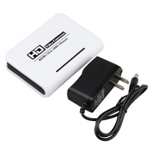 лучшая цена HDMI TO VGA Converter box hdmi to vga audio  adapter RCA 3.5mm Stereo Audio and SPDIF/Toslink  Audio output for PC HDTV