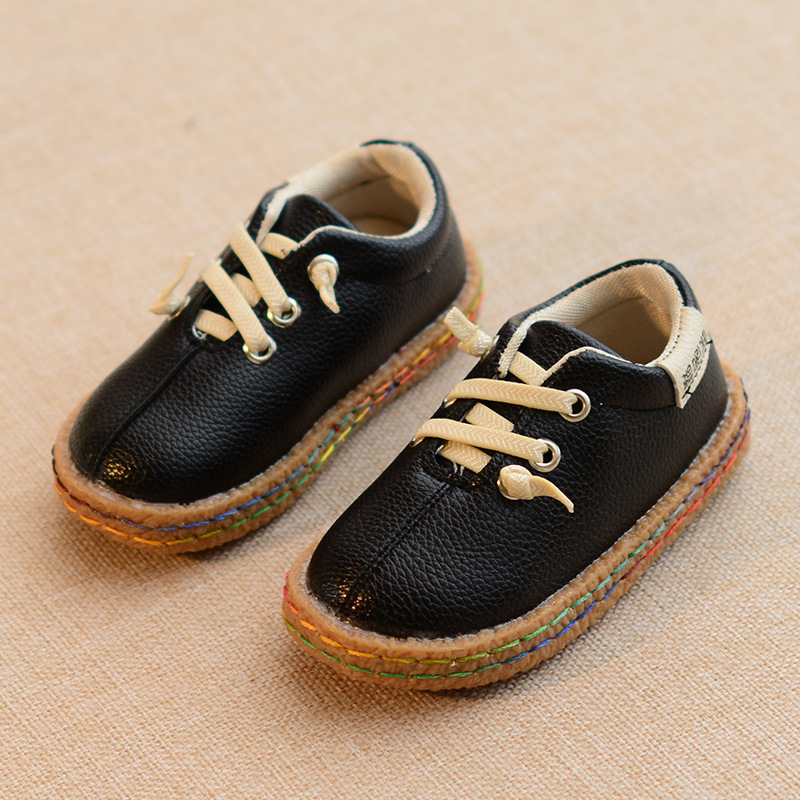 Children Shoes Boys Shoes New Autumn Leather Soft Outsole Moccasins CasualBaby Boys Single Shoes Toddler Shoes Size 21-30