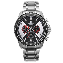 Men's Watches Luxury Brand Fashion Sports multi-functional men quartz stainless steel watch waterproof luminous CASIMA #8103