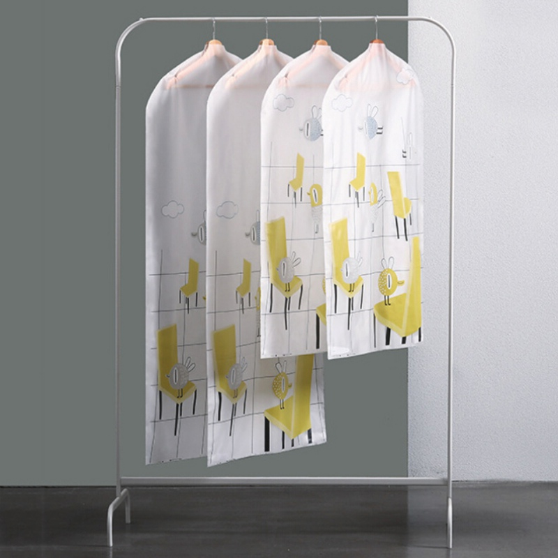 Clothes Dust Cover Clear Bag Case Moth Proof Garment Bags for Home Hanging-type Coat Suit Protect Storage Bag Wardrobe Organizer(China)