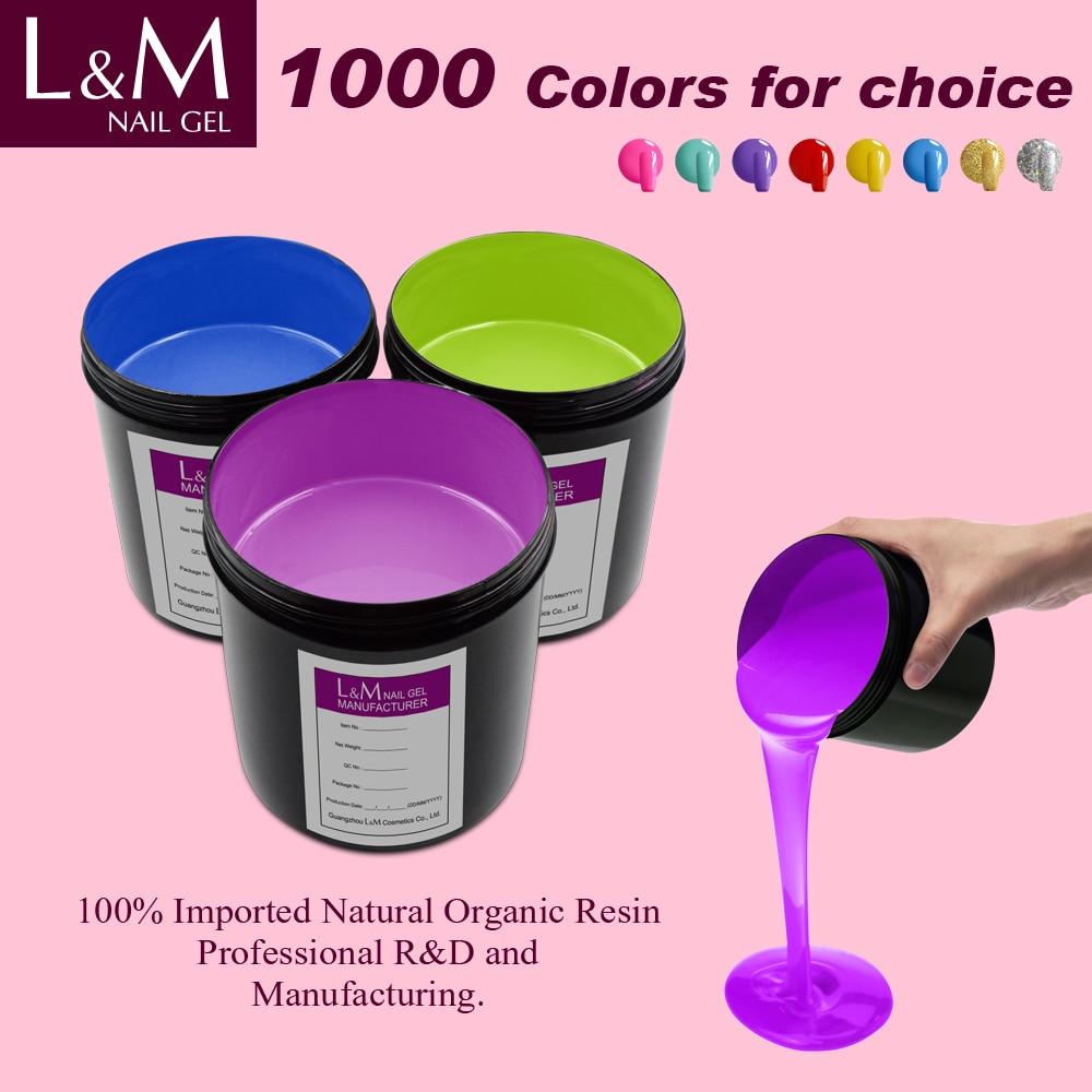 1 KG Bulk package Nail Gel Colorful Gel Polish Soak off UV Gel Lacquer Bright Color L&M Wholesale Gel Polish
