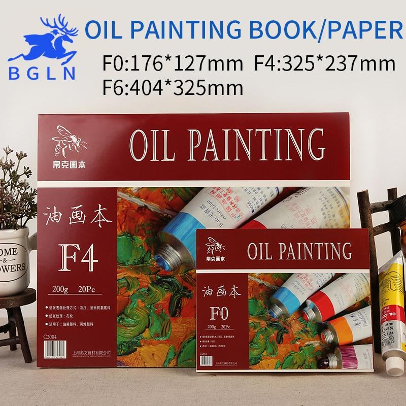 Bgln 1Piece Oil Painting Book 20 Sheets Professional Painting Book For Oil Paints Paper For Office School Artist Art Supplies