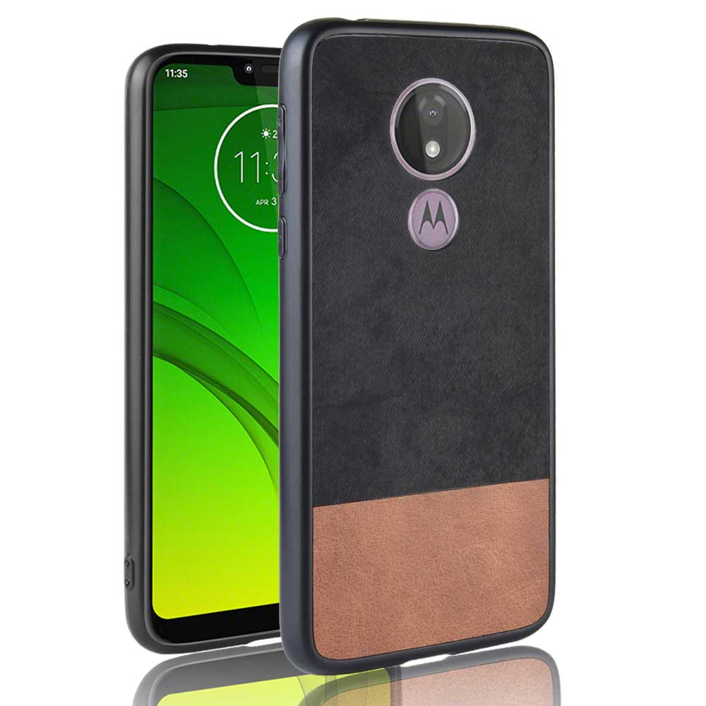 Business Phone Case Cover For Moto E5 G6 G7 Plus Play P30 Note Power Case E5 Plus Two-Color Stitching Leather Protective Cases