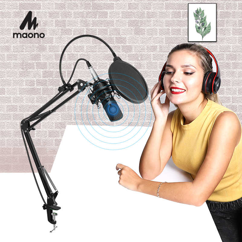 MAONO AU-A03 Professional Studio Microphone Kit Condenser Cardioid Microfono Podcast Mic for Gaming Karaoke YouTube Recording