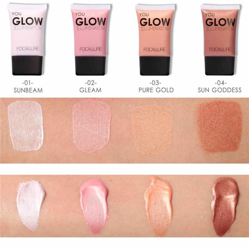 Focallure fond de teint liquide blanchissant correcteur hydratant base contrôle huile maquillage maquiagem
