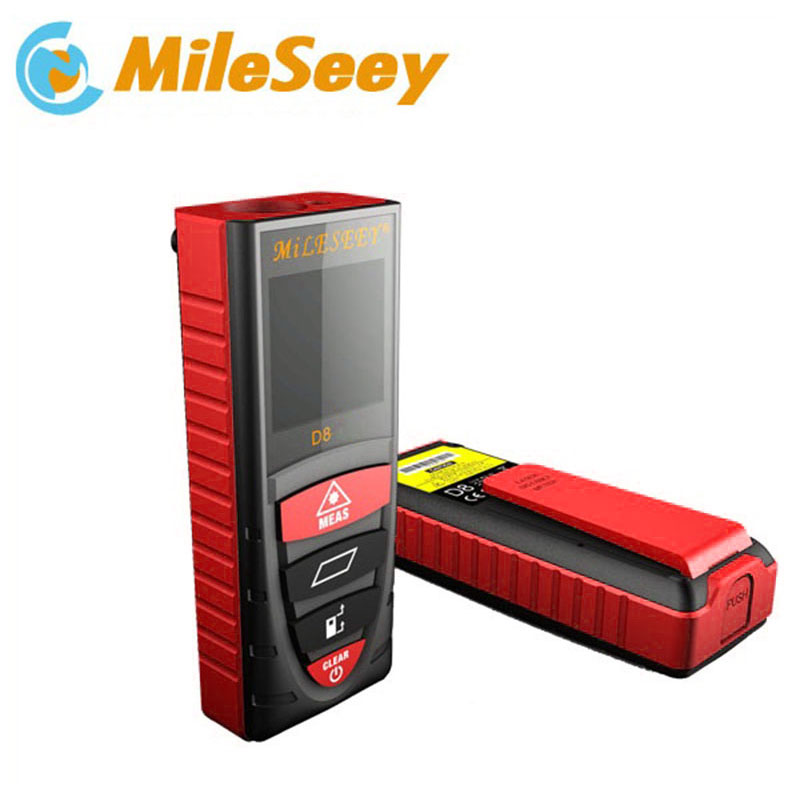 все цены на Mileseey laser distance meter D8 40m laser rangefinder laser measure telemetro laser distance meter diastimeter Blue