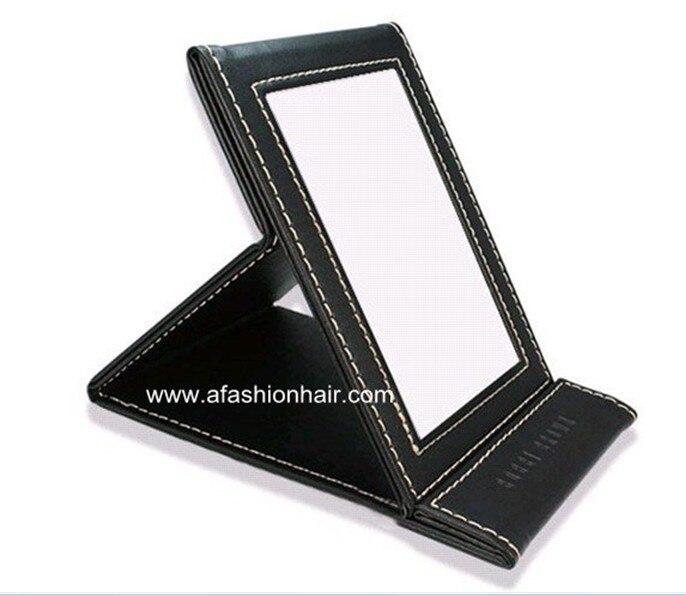 ac44e509a 1 unid BB estilo de plegado belleza espejos portables del maquillaje ligera  de las mujeres del bolsillo escritorio espejo marca CHOCOLATE envío libre