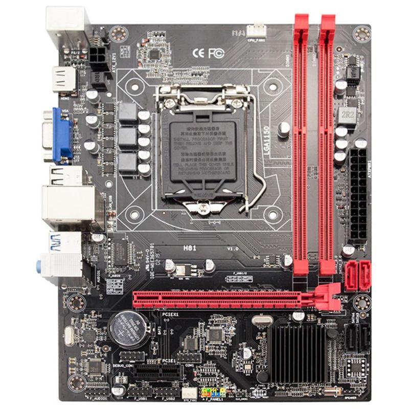 JINGSHA H81 Socket LGA 1150 carte mère de bureau DDR3 M-ATX carte mère de jeu prend en charge le processeur LGA1150 série complète