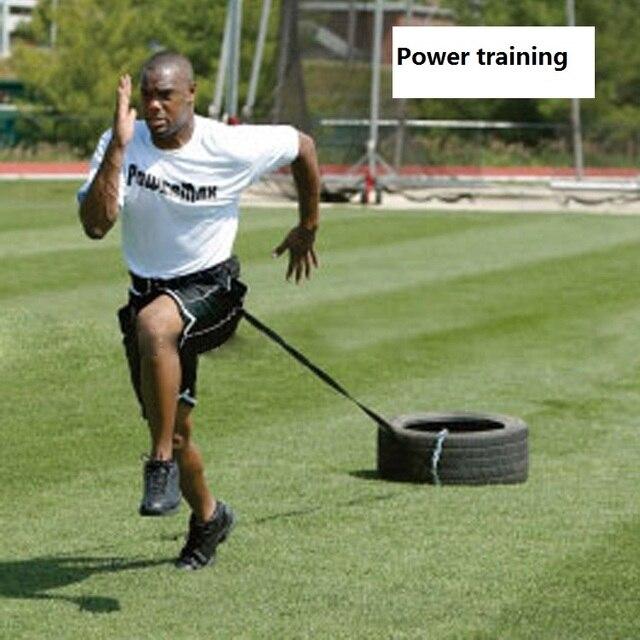 Waist Resistance Training Tyre Belt Power Strength Dragging Rope ...