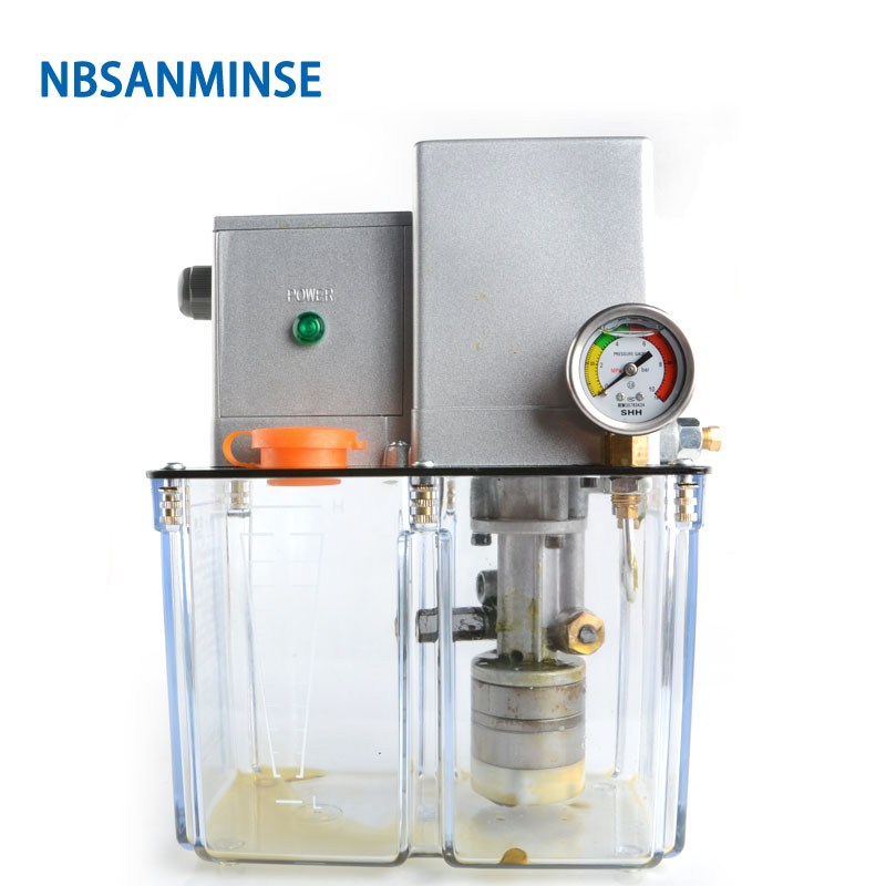 NBSANMINSE SDR5 34Z Grease Lubricating Pump 4 Mpa AC 380 Volt 50 Hz with Overflow Valve for Lubrication System in Pneumatic Parts from Home Improvement