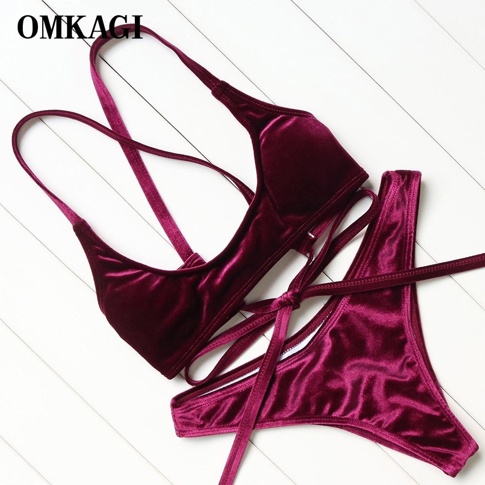 OMKAGI nuevo Bikini 2018 traje De baño mujer Sexy Push Up Bikinis Set traje De baño ropa De playa Maillot De Bain Femme