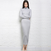 New Autumn And Winter Sexy Long Dress A Soft Feminine With A Long Collar In Different