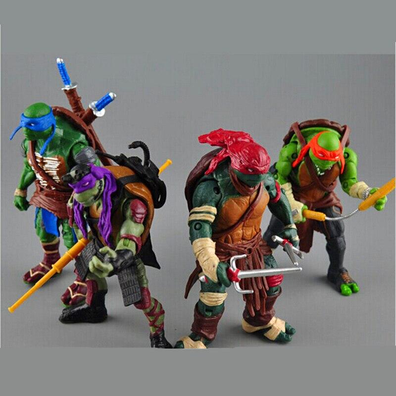 2015 New NECA Toy 4 pieces/lot <font><b>Teenage</b></font> <font><b>Mutant</b></font> <font><b>Ninja</b></font> <font><b>Turtles</b></font> PVC <font><b>Action</b></font> <font><b>Figure</b></font> TMNT Model Brinquedos Christmas Gift