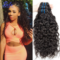 Luvin волос продукты влажная и волнистые бирманский девственница распущенными волосами фигурные волны 3 пучки дешевые бирманский Волна Воды человеческих волос ткет