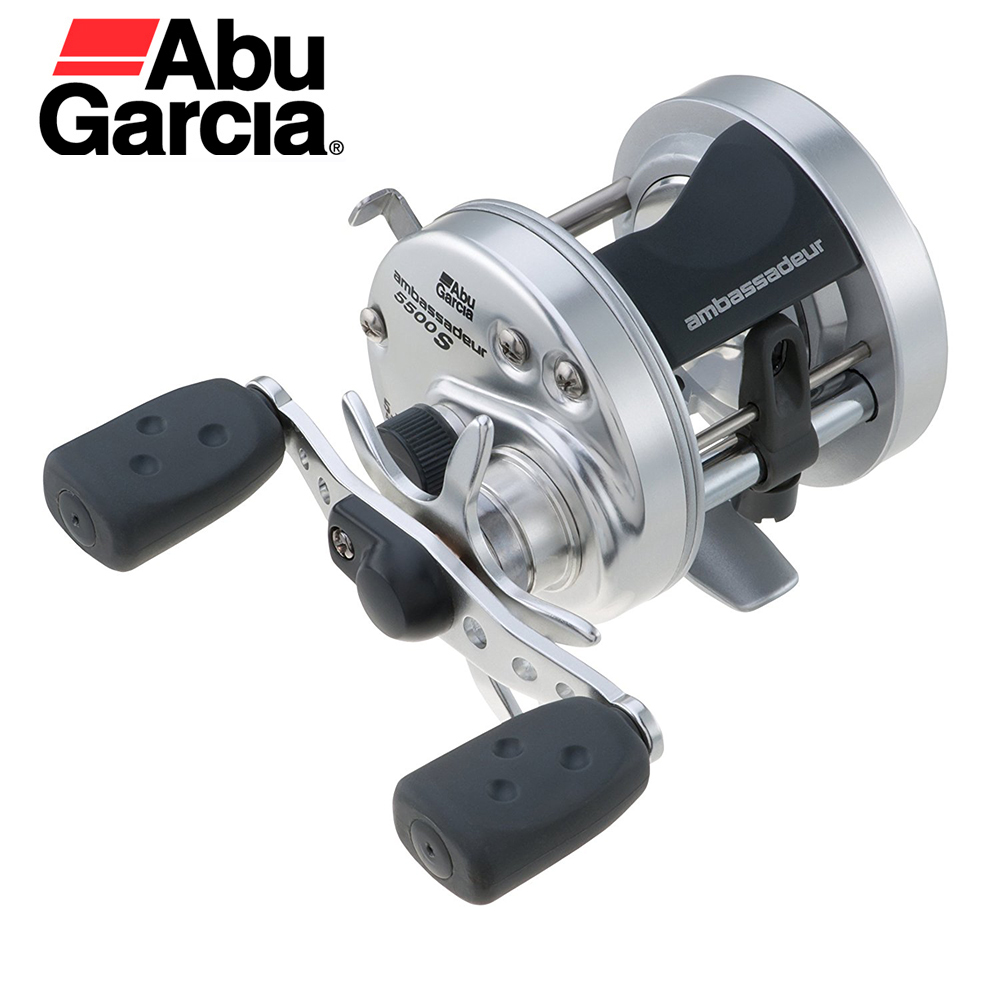 Abu Garcia Ambassadeur S 2 Stainless Steel Ball Bearings 5.1:1 Speed 12.5 Pounds Power Ultra Smooth Drag Round Bait Casting Reel катушка мультипликаторная abu garcia ambassadeur revo s размер х лес 0 30мм 145м вес 216 г 7 1 6 4 1 l