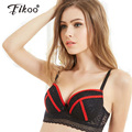 Fikoo Sexy Deep V C Cup Plus Size Push up Lace Bra For Women Underwear Brassiere