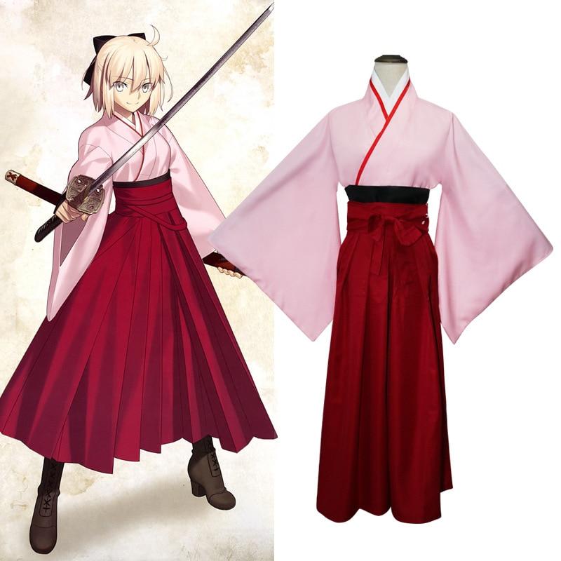 Anime InuYasha Series Kikyou Traditional dress Red kimono ... |Traditional Kimono Anime